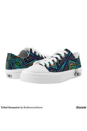 turquoise blue DFLCPrints shoes - carrot orange DFLCPrints shoes