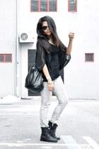 black Market boots - silver leopard Zara jeans - dark gray aviators Sportsgirl s