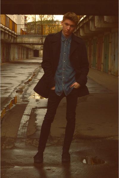 Vans shoes - house coat - H&M jeans - Levis shirt