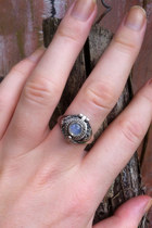Moonstone Secret Compartment Ring, Rainbow Moonstone, Moostone, Personalised, Co