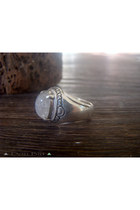 Chunky, Cocktail, Moonstone Ring, Carved Silver, Rings, Personalized, Gemstone