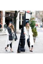Fendi sunglasses - Never Fully Dressed coat - Guess heels
