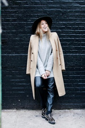 SANDRO shoes - River Island coat - free people hat