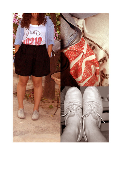 red 90210 t-shirt - heather gray oxford shoes les lollitas shoes
