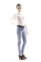 blue Cheap Monday jeans - white vintage shirt - red D&G shorts - brown vintage b