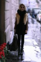 beige vintage - black Opening Ceremony shoes