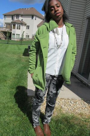 Bongo jacket - chiffon unknown blouse - City streets pants