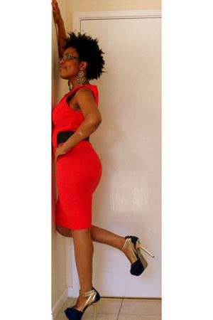dress - earrings - heels
