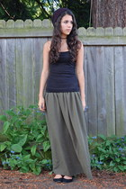 army green American Apparel skirt - black Target top