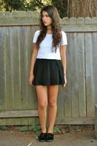 black Nordstrom skirt - white Goodwill Outlet top