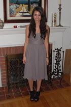 black Two Lips wedges - heather gray H&M dress