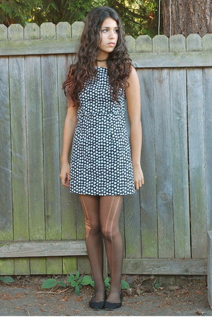 black vintage dress - black Urban Outfitters flats