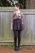 black Nordstrom boots - black Harriet Carter tights - black Target skirt