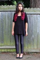 black Urban Outfitters top - black American Apparel pants