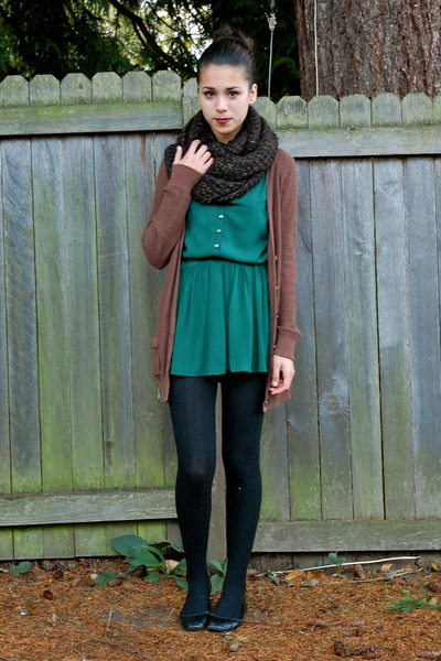 Forest Green Modcloth Dresses Black Payless Tights
