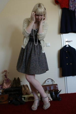 see by chlo sweater - selfmade dress - Fornarina shoes