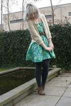 see by chlo sweater - Episode dress - vintage belt - Bally shoes - H&M tights