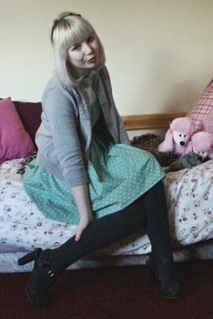 selfmade dress - see by chlo sweater - see by chlo shoes - H&M tights - SIX acce