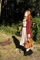 tawny alexa satchel Mulberry bag - black Dolce Vita boots - pink Dahlia dress