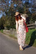 nude wedges lanvin heels - beige floppy Topshop hat