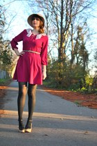 gold Anjolee bracelet - black Sabine shoes - magenta vera moda dress
