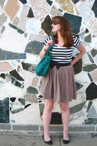 brown Mossimo skirt - black Kimichi Blue shoes - black H&M shirt - green deux lu