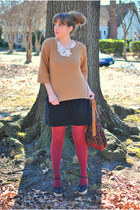 black clogs Sabine shoes - camel 3-4 sleeve Old Navy sweater
