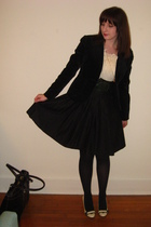 black Mossimo skirt - white xhiliration blouse - black Gap blazer - black merona