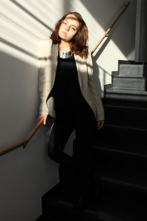 Zara blazer - H&M necklace