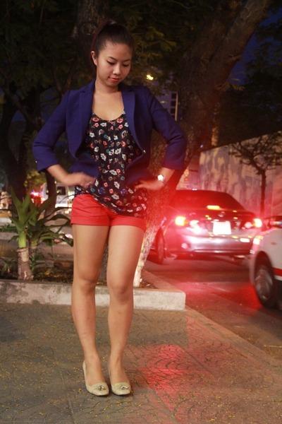 Zara blazer - Mango shorts - Forever 21 blouse