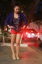 Zara blazer - Mango shorts - Forever 21 blouse