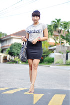 EIKA watch - black dress H&M dress - Cava bag - flamingo flats