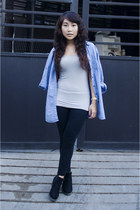 Topshop top - So FAB boots - seiko watch