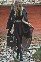 Zara belt - H&M shoes - H&M dress - Zara coat
