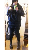 H&M jacket - Candies boots - H&M scarf