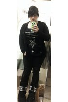 Forever 21 cardigan - moon boots boots - Actual Pain shirt