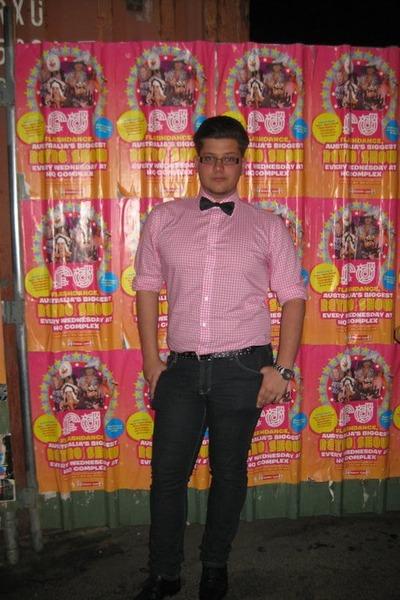 Black Shirt Pink Tie Black Roger David Tie Pink