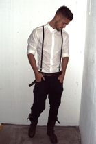 black allsaints jeans - white Dolce & Gabanna shirt