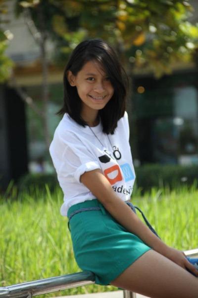 white shirt - chartreuse shorts