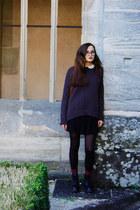 Zara jumper - Dr Martens boots - asos dress