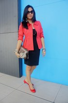 Topshop blazer - boutique shoes - GBoss dress - liz claiborne bag