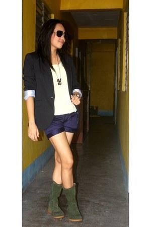 T-moro boots - Zara blazer
