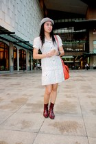 STACATTO boots - K2 dress - satchel SM bag - bowler SM accessories