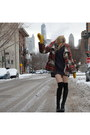Black-thigh-high-steve-madden-boots-red-cape-free-people-coat