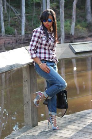 blue Target jeans - black Michael Kors bag - ivory Marshalls blouse