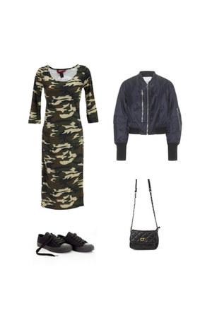black Danice Stores purse - Danice Stores dress - black Danice Stores sneakers