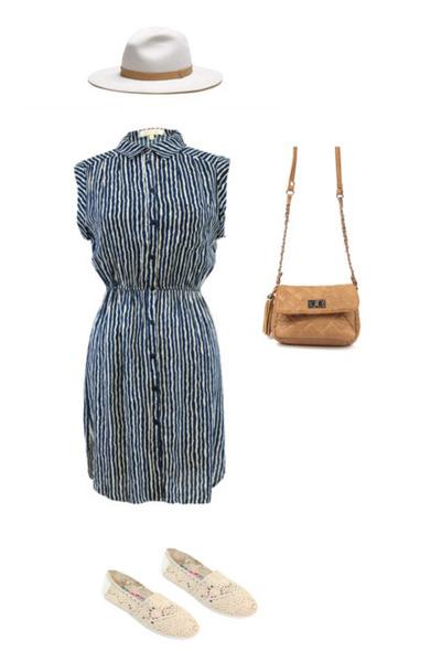 beige Danice Stores shoes - Danice Stores dress - bronze Danice Stores bag