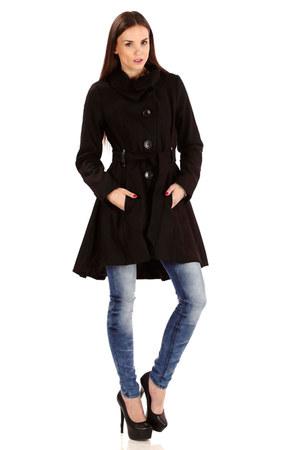 charcoal gray wool coat - black wool coat - purple wool coat - blue jeans