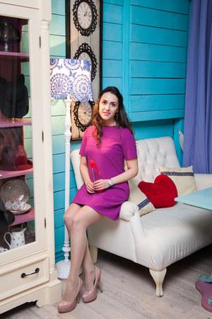 magenta nikita rinadi dress - neutral H&M heels