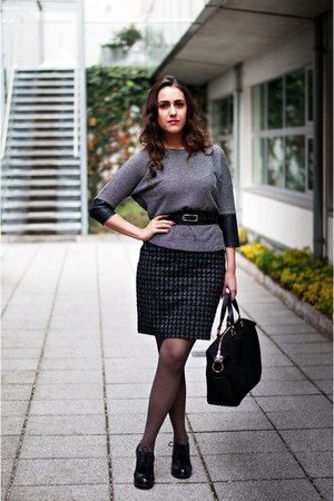black Geox shoes - dark gray Orsay blazer - black Stiefelkonig bag